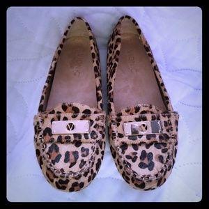 Vionic Ashby  Leopard Print Calf Hair Loafers